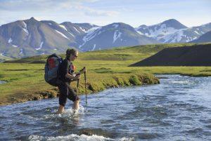 Islandi matkareis. Jõeületus Laugaveguril